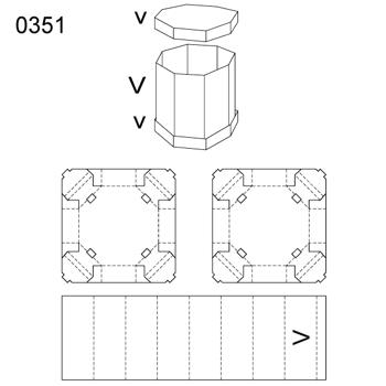 Obrázek Krabice s víkem 0351
