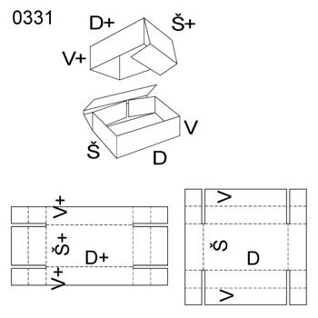 Obrázek Krabice s víkem 0331