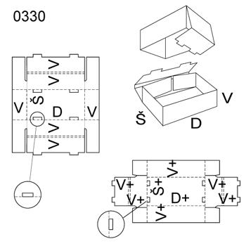 Obrázek Krabice s víkem 0330