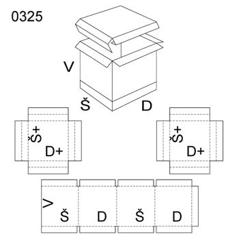 Obrázek Krabice s víkem 0325