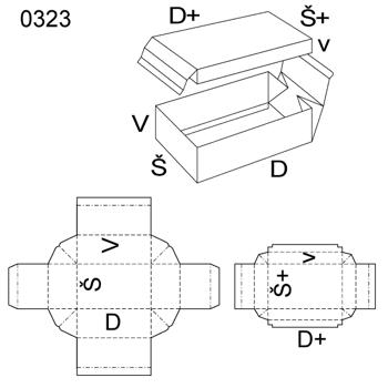 Obrázek Krabice s víkem 0323