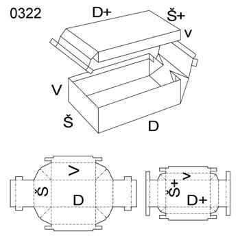 Obrázek Krabice s víkem 0322