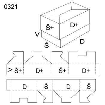 Obrázek Krabice s víkem 0321