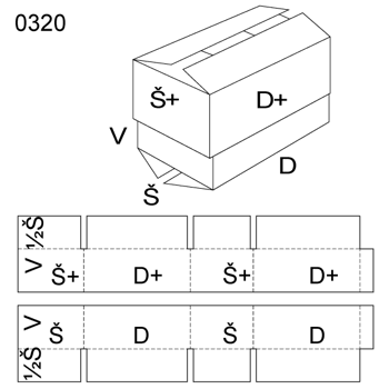 Obrázek Krabice s víkem 0320