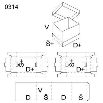 Obrázek Krabice s víkem 0314