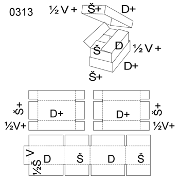 Obrázek Krabice s víkem 0313