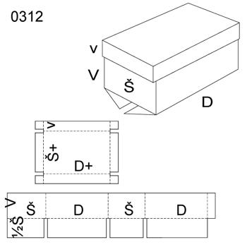 Obrázek Krabice s víkem 0312