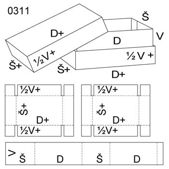 Obrázek Krabice s víkem 0311