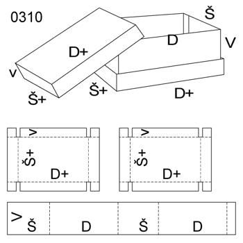 Obrázek Krabice s víkem 0310