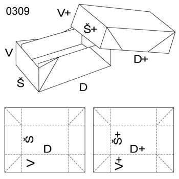 Obrázek Krabice s víkem 0309