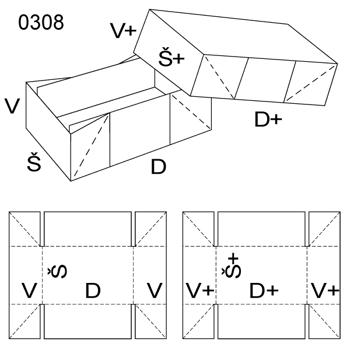 Obrázek Krabice s víkem 0308