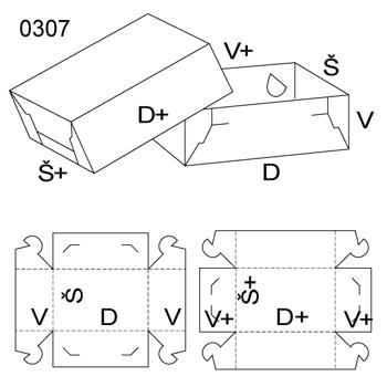 Obrázek Krabice s víkem 0307