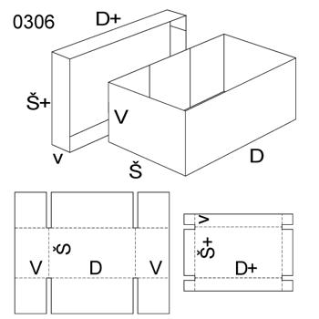 Obrázek Krabice s víkem 0306