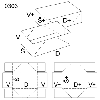 Obrázek Krabice s víkem 0303