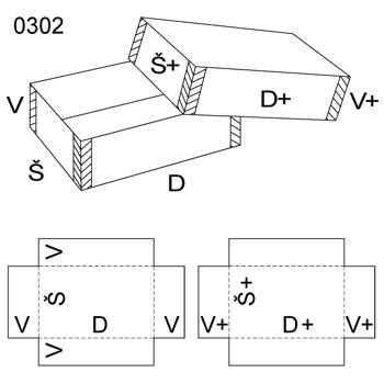 Obrázek Krabice s víkem 0302