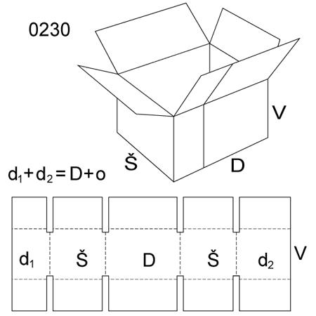 Obrázek z Klopová krabice 0230