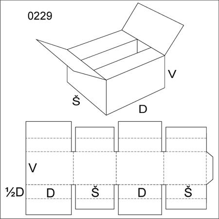 Obrázek z Klopová krabice 0229