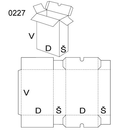 Obrázek z Klopová krabice 0227