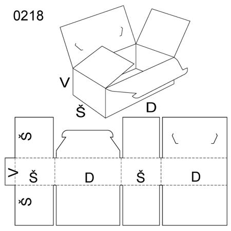 Obrázek z Klopová krabice 0218