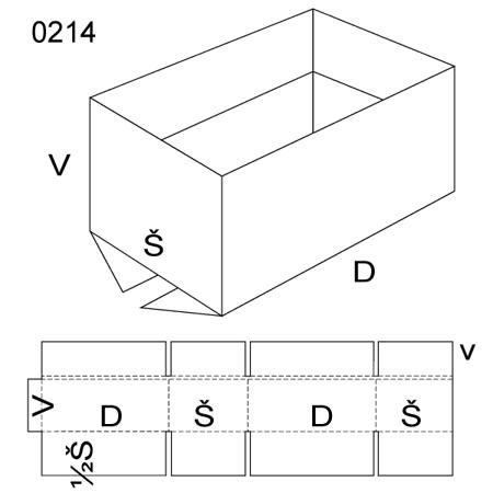 Obrázek z Klopová krabice 0214