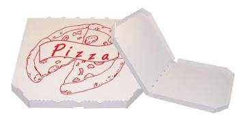 Obrázek Pizza krabice, 40 cm, bílo bílá s potiskem