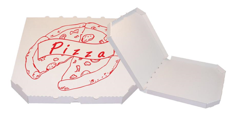 Obrázek z Pizza krabice, 50 cm, bílo bílá s potiskem