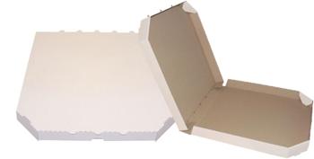 Obrázek Pizza krabice, 50 cm, bílo hnědá bez potisku